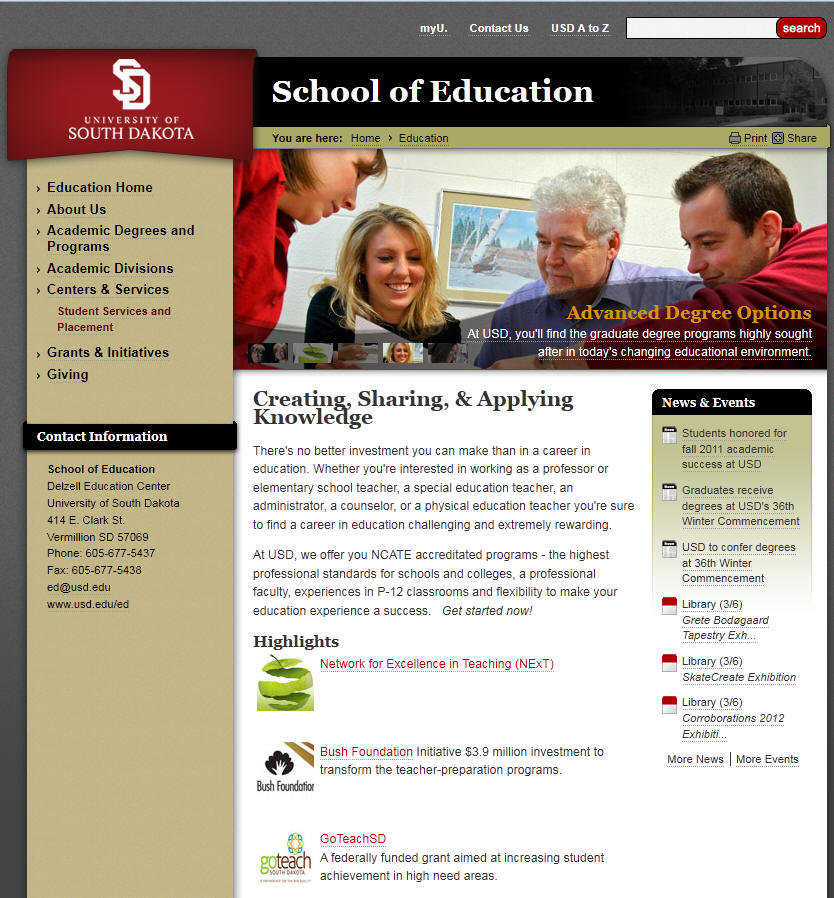University of South Dakota School of Education