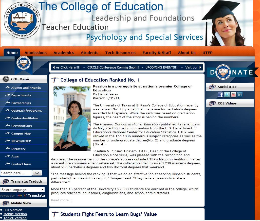 University of Texas El Paso College of Education