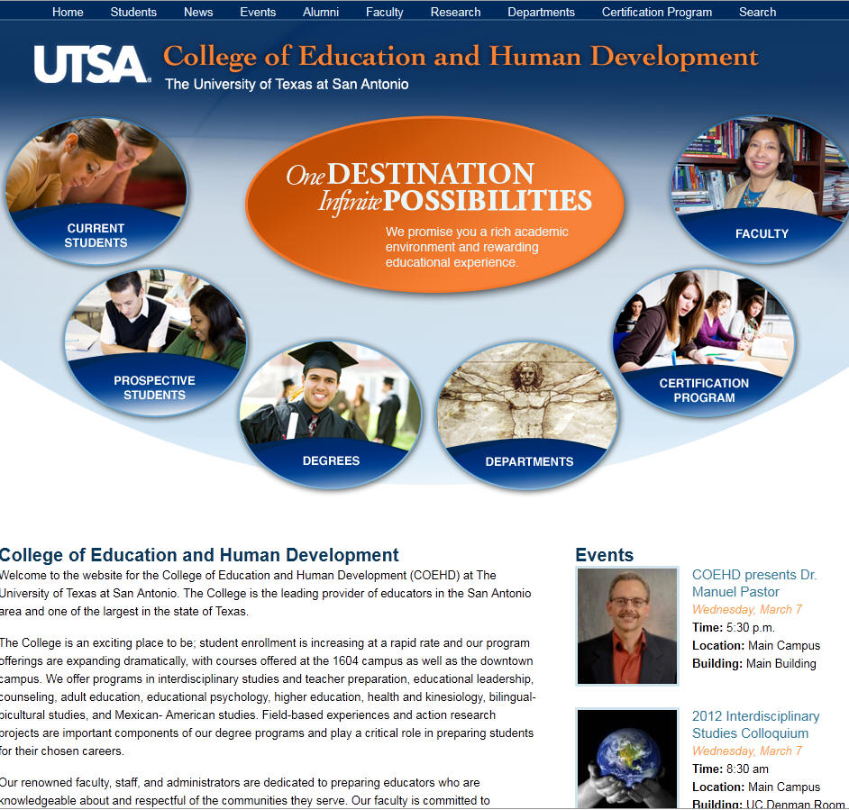 University of Texas San Antonio College of Education and Human Development