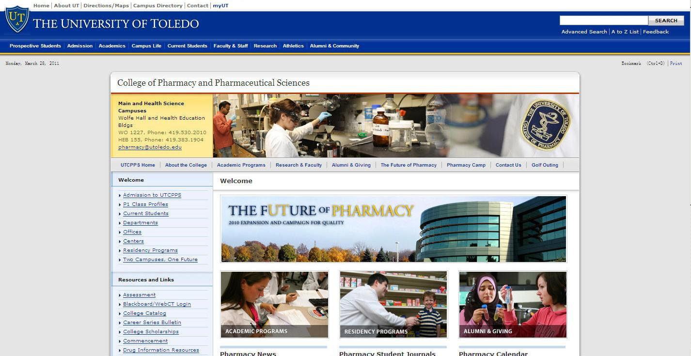 University of Toledo College of Pharmacy and Pharmaceutical Sciences