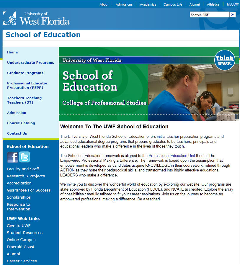 University of West Florida School of Education