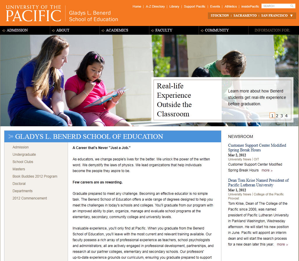 University of the Pacific Gladys L Benerd School of Education