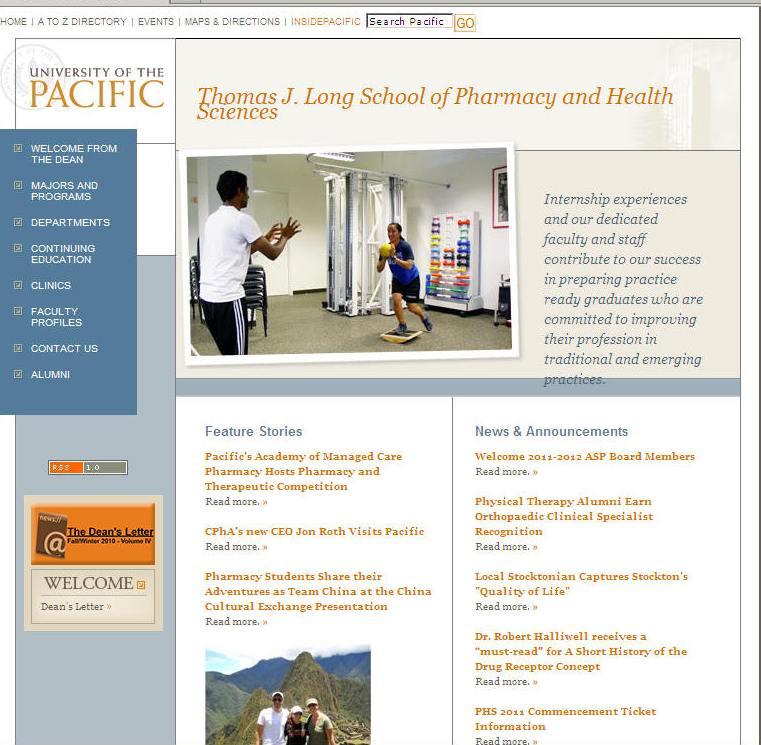 University of the Pacific Thomas J Long School of Pharmacy Health Sciences