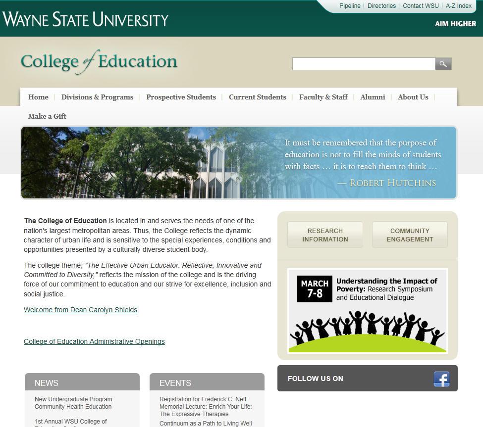 Wayne State University College of Education