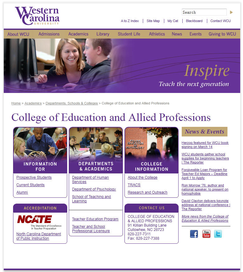Western Carolina University College of Education and Allied Professions