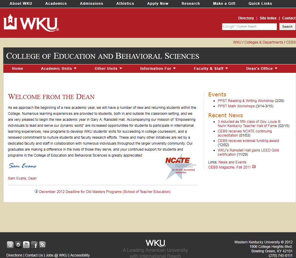 Western Kentucky University College of Education and Behavioral Sciences