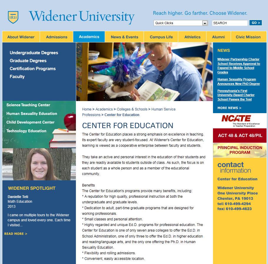 Widener University Center for Education