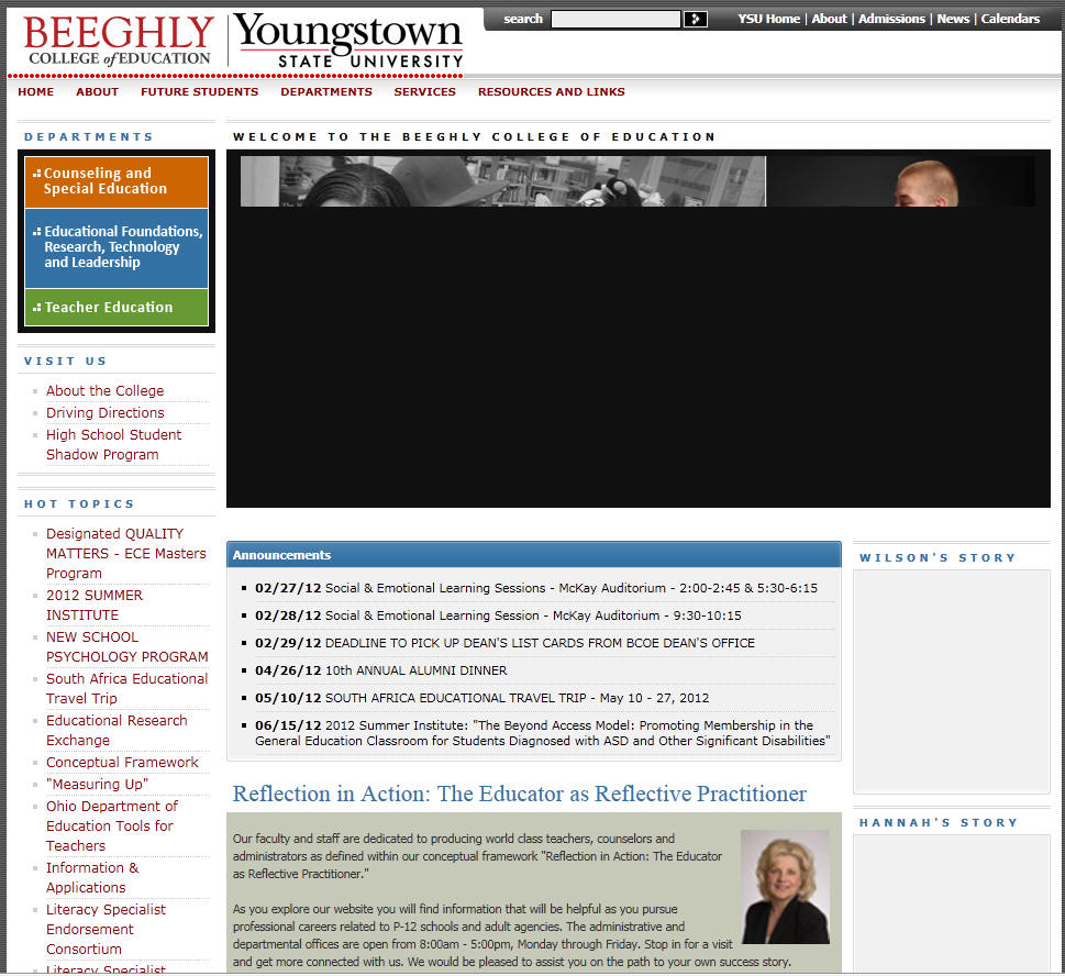 Youngstown State University Beeghly College of Education