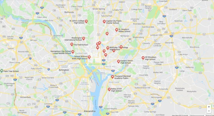 Top High Schools in Washington DC