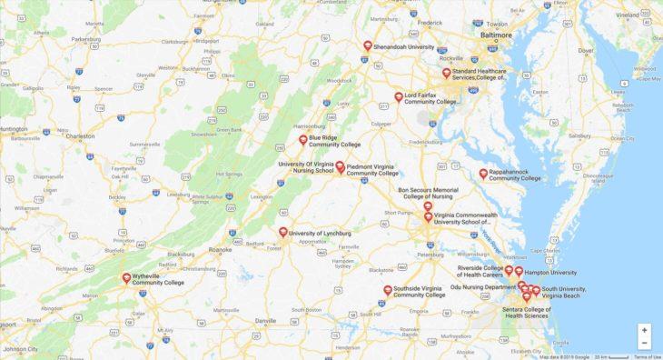 Top Nursing Schools in Virginia